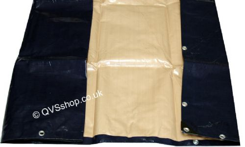 Heavy Duty Blue/Beige Tarpaulins